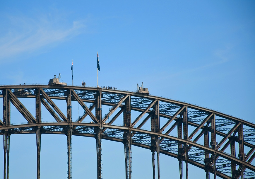 Climbers on the Sydney Harbour Bridge