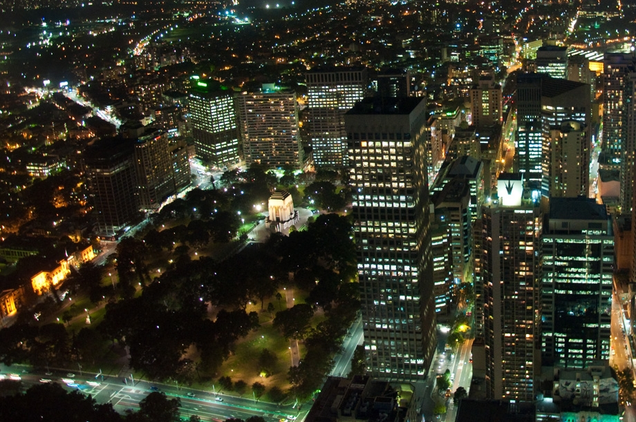 Night Views from Sydney Tower