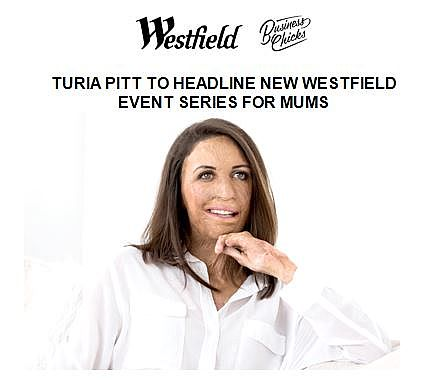 Turia Pitt to Launch Westfield Women in Conversation