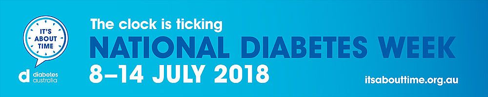 National Diabetes Week: 8th - 14 July 2018