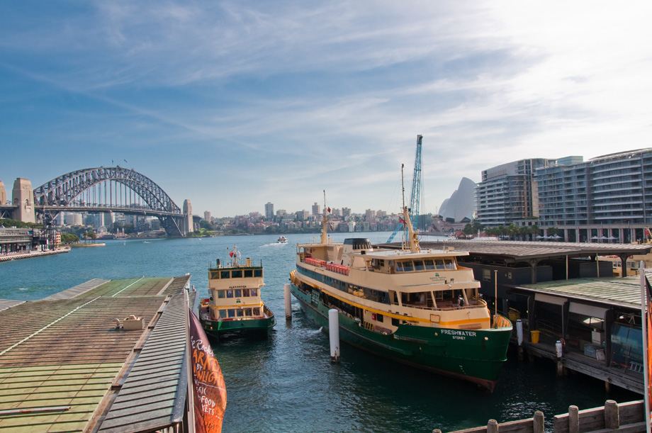 Train bus and ferry transport visitor information for Experiential design sydney